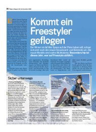 Kommt ein Freestyler geflogen - sport und kultur | schweiz