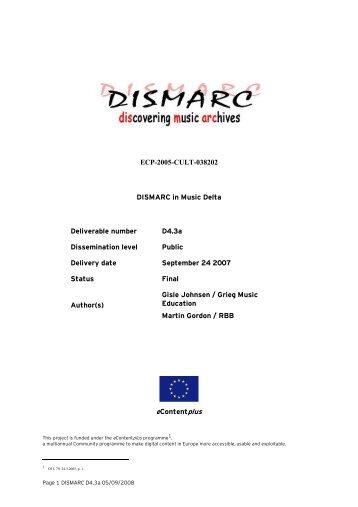 Portfolio tool - DISMARC