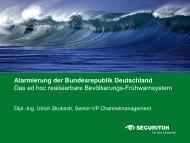 Alarmierung der Bundesrepublik Deutschland Das ad hoc ...