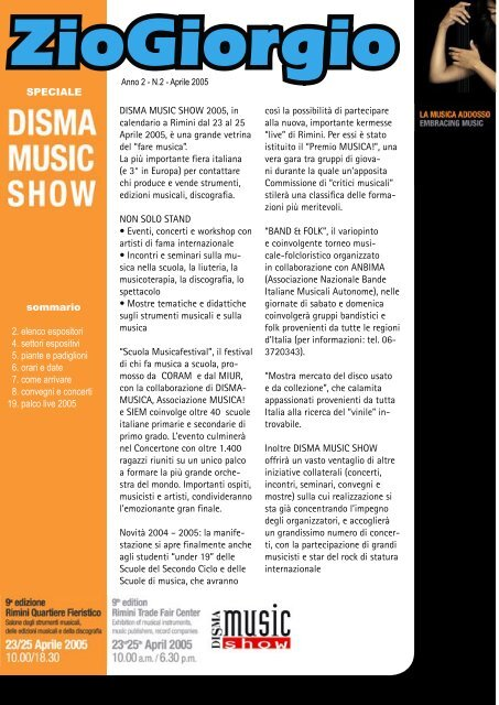 Calendario Fiera Rimini.Disma Music Show 2005 In Calendario A Rimini