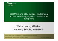 Walter Koch, AIT-Graz Henning Scholz, MfN-Berlin