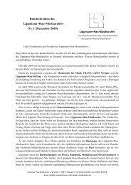 Rundschreiben Nr. 1 - Lippmann+Rau-Musikarchiv