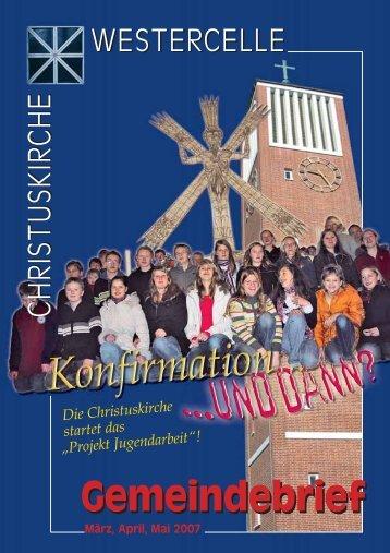 Ausgabe 2007: März / April / Mai - Kirchengemeinde Westercelle