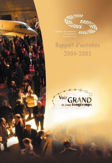 Rapport d'activité 2004 - Chambre de commerce et d'industrie de la ...