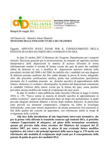allegato - Associazione Italiana Dislessia