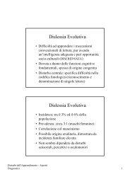 Dislessia Evolutiva Dislessia Evolutiva