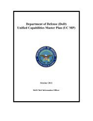 DoD CIO Memorandum for DISA Connection Approval Office