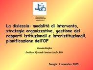 La dislessia: modalità dii intervento, strategie organizzative, gestione