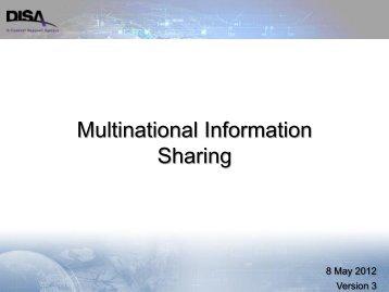 Multinational Information Sharing - Defense Information Systems ...