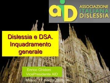 LA DISLESSIA IN ITALIA: situazione e prospettive - Ufficio scolastico ...