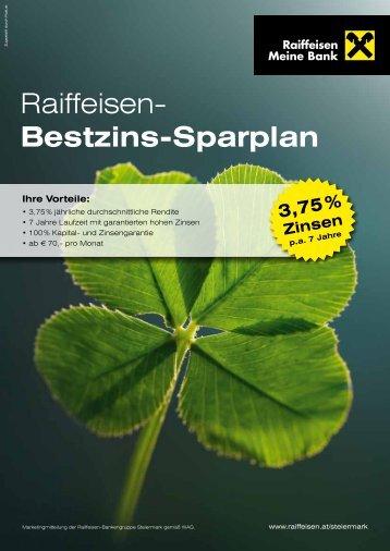 Raiffeisen- Bestzins-Sparplan