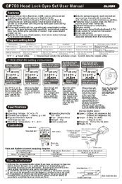 GP750 Head Lock Gyro Set User Manual ALIEN - HeliFleet.com