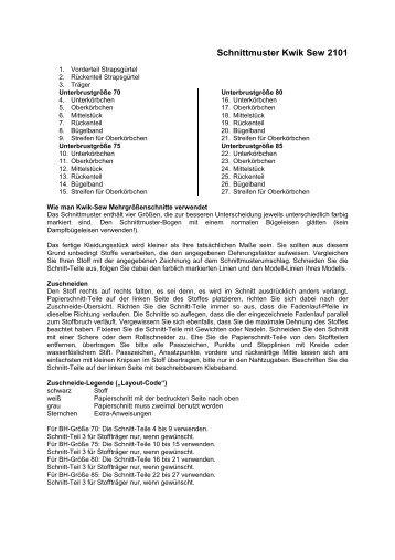 Schnittmuster Kwik Sew 3517 - ELingeriA
