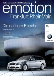 BMW Niederlassung Frankfurt RheinMain - publishing-group.de