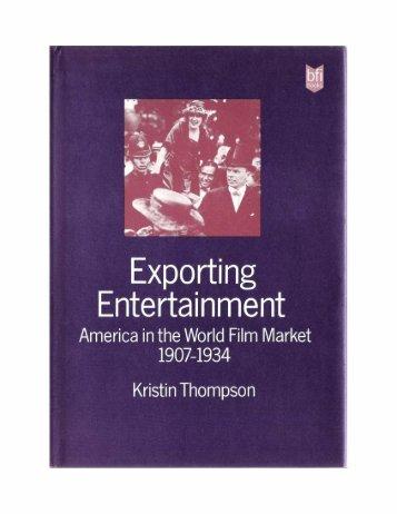 exporting entertainment - David Bordwell