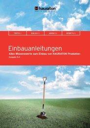 HAURATON Einbauanleitungen - Ausgabe 5.4
