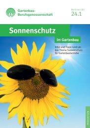 Sonnenschutz im Gartenbau - GBG 24.1