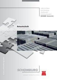 Betontechnik - schomburg ics