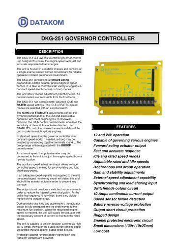 DKG-251 GOVERNOR CONTROLLER - DATAKOM