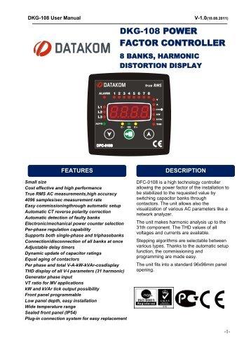 DKG-108 POWER FACTOR CONTROLLER - Datakom