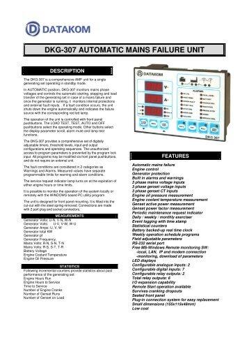 dkg-307 automatic mains failure unit - Mega Global Solution, PT