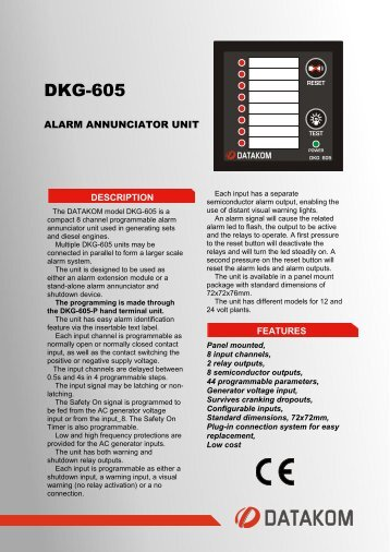 DKG-605 - Datakom