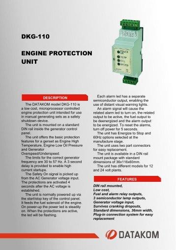 DKG-110 ENGINE PROTECTION UNIT - Datakom