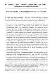 Stellungnahme zur Ziffer 3002 des EBM, 2004 - Deutsche ...
