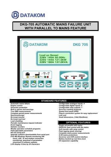 Dkg-705 automatic mains failure unit with parallel - DATAKOM