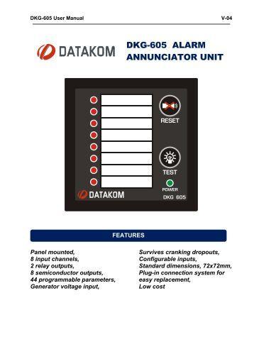 DKG-605 ALARM ANNUNCIATOR UNIT - Datakom