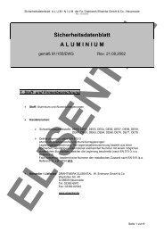 Sicherheitsdatenblatt A L U  M I N I U M - Drahtwerk ELISENTAL