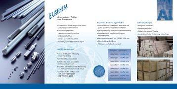 Flyer Stangen - Drahtwerk ELISENTAL