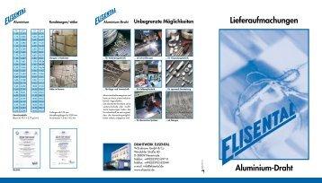 Aluminium-Draht Lieferaufmachungen Einlage - Drahtwerk ...