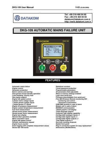 dkg-109 automatic mains failure unit features