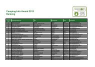 Ranking Camping.Info Award 2013 / Kurzversion - PDF