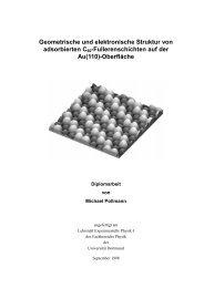 Geometrische und elektronische Struktur von adsorbierten C60 ...