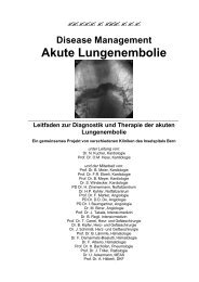 Disease Management Akute Lungenembolie - Vereinigung ...