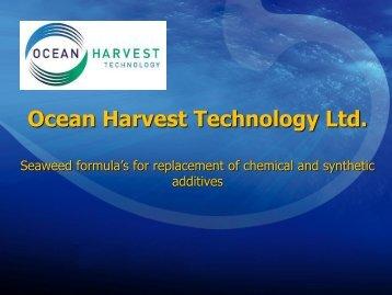 Ocean Harvest Technology Ltd. (OHT) - Algecenter Danmark