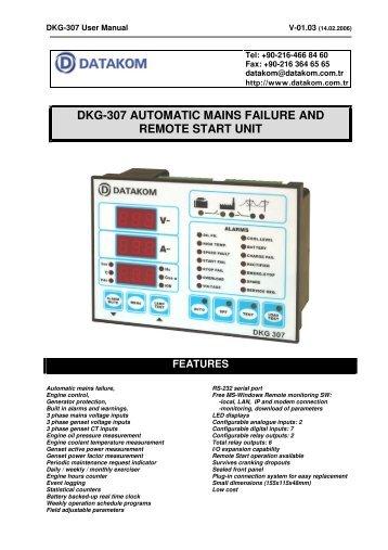 dkg-307 automatic mains failure and remote start unit - Dalet