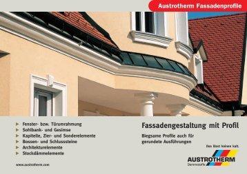Fassadengestaltung mit Profil