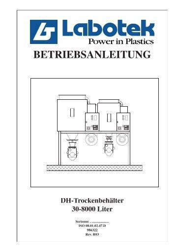 BETRIEBSANLEITUNG DH-Trockenbehälter 30-8000 Liter - Labotek