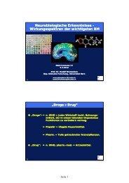 Neurobiologische Erkenntnisse Neurobiologische Erkenntnisse ...