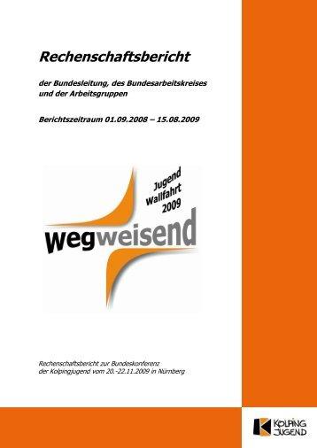 Rechenschaftsbericht - Kolpingjugend - Kolpingwerk Deutschland