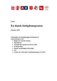 En dansk fattigdomsgrænse - Rådet for Socialt Udsatte