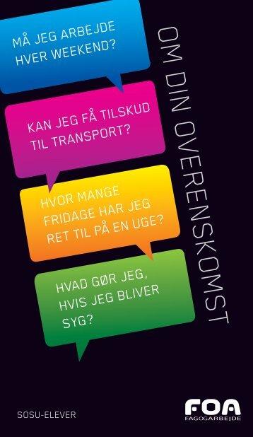 SOSU-elever: Om din overenskomst - FOA