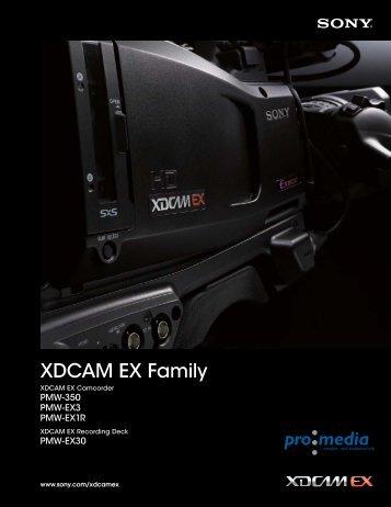 XDCAM EX Family - PRO.MEDIA