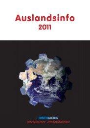 Auslandsinfo 2011 - Fachschaft Maschinenbau