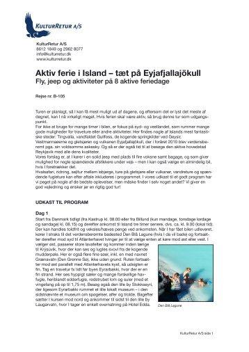 Aktiv ferie i Island – tæt på Eyjafjallajökull - kulturretur.dk