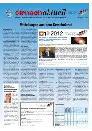 Mitteilungen aus dem Gemeinderat - Gemeinde Sirnach