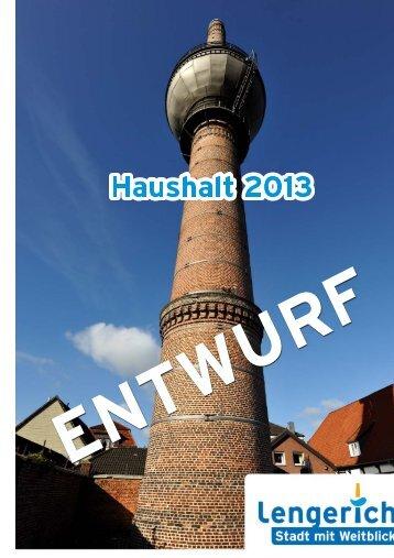 Teilfinanzplan 2013 - Stadt Lengerich
